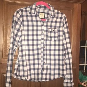 Hollister Woman's Plaid Shirt Medium